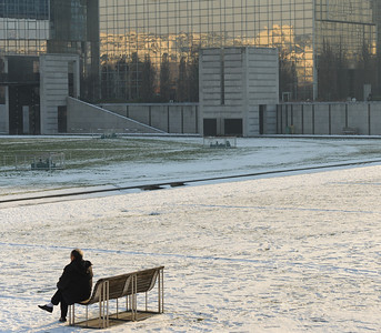 Lone man in Parc Javel-André Citroen
