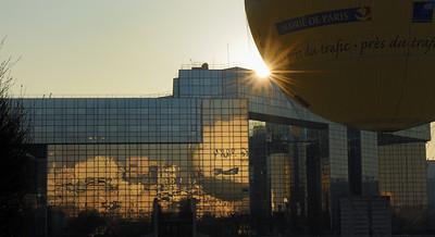 Balloon reflexion in Parc Javel-André Citroen